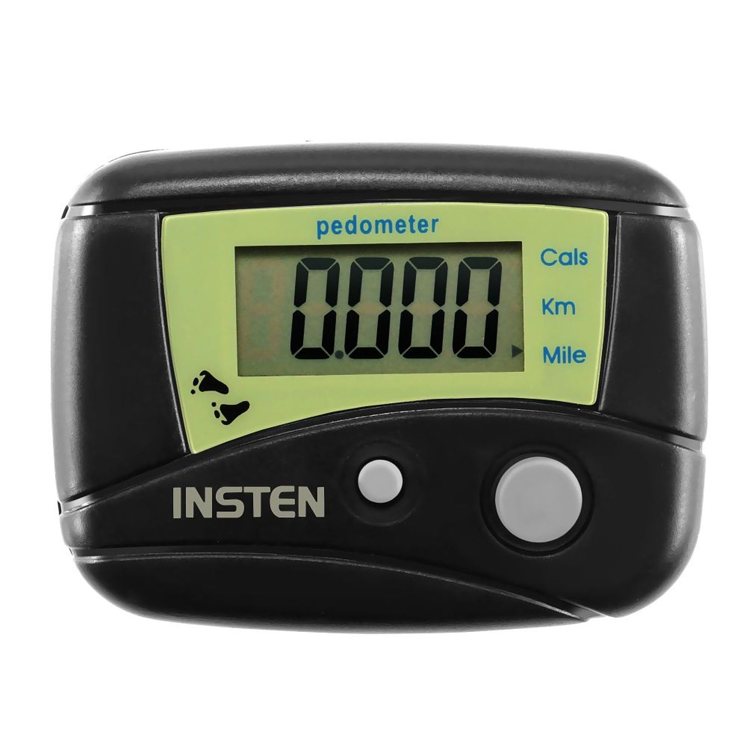 Insten Mini Digital Fitness Pedometer Calorie Step Distance Ran Walked Biked Counter (with belt clip)