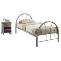 Brooklet 2 Piece Kids Bedroom Set with Colorful Nightstand and Twin Bed