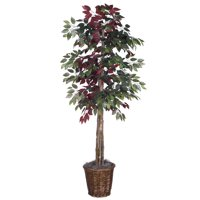Vickerman 6' Artificial Capensia Deluxe Set in Rattan Basket