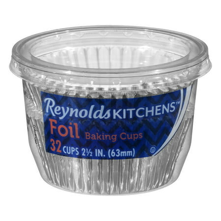 Reynolds Kitchens™ 2.5 in. Foil Baking Cups 32 ct Container, 32.0 CT (Foil Cups)