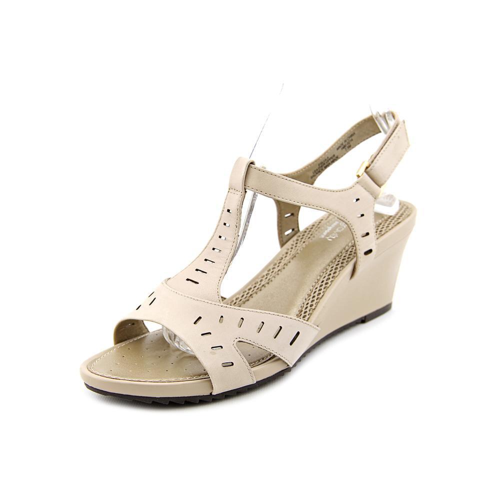 Antigravity By Easy Spirit Lula Open Toe Leather Wedge Sandal by Antigravity By Easy Spirit