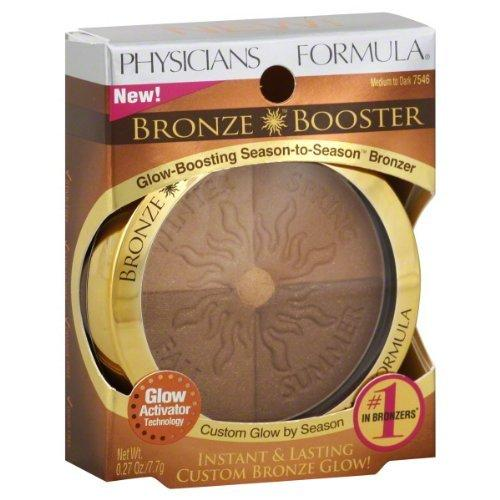 Physicians Formula Bronze Booster Glow-Boosting Season-to-Season Bronzer 7546 Medium to Dark , 1 Pack