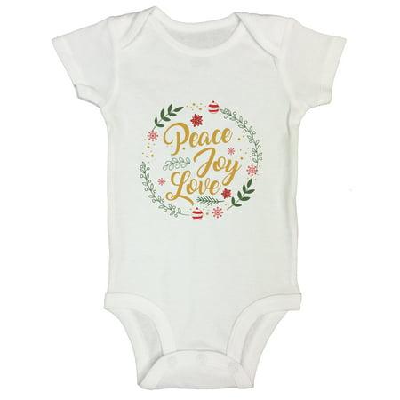 """Cute Girls Toddler Kids Onesie """"Peace Joy Love"""" Hippie Gift Funny Threadz Kids 3-6 Months,"""