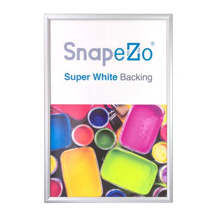 Silver snap frame poster size 24x48 - 1.7 inch profile - Walmart.com