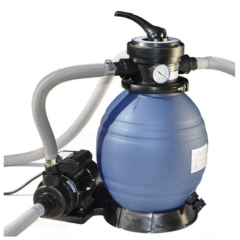 """Sand Master Above Ground Swimming Pool 12"""" Sand Filter with Pump for Intex 71225"""