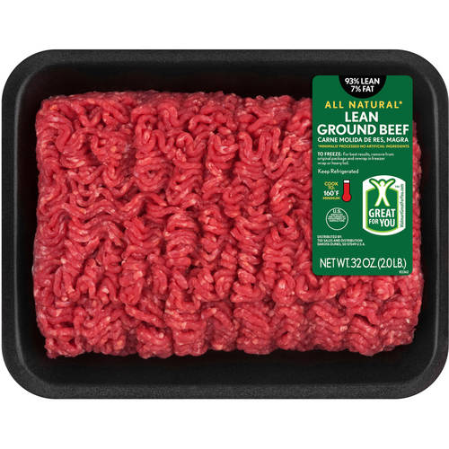 93% Lean/7% Fat, Lean Ground Beef Tray, 2 Lbs
