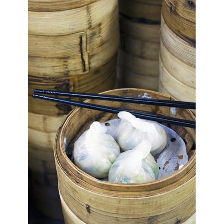 Dim Sum Preparation in a Restaurant Kitchen in Hong Kong, China, Asia Print Wall Art By Gavin