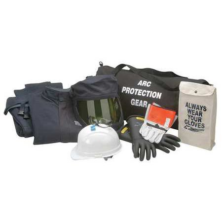 CHICAGO PROTECTIVE APPAREL AG-43-XL Arc Flash Jacket and Bib Kit,Navy,XL