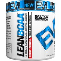 Evlution Nutrition Lean BCAA Powder, Fruit Punch, 30 Servings