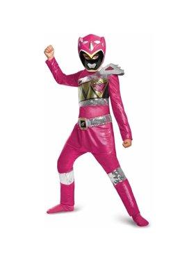 Power Rangers Dino Charge Pink Ranger Sequin Deluxe Child Halloween Costume