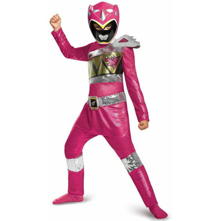 Power Rangers Dino Charge Pink Ranger Sequin Deluxe Child Halloween Costume - Halloween Stores Ottawa