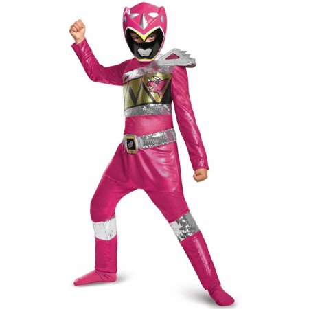 Power Rangers Dino Charge Pink Ranger Sequin Deluxe Child Halloween Costume](Power Rangers Costume Pink)