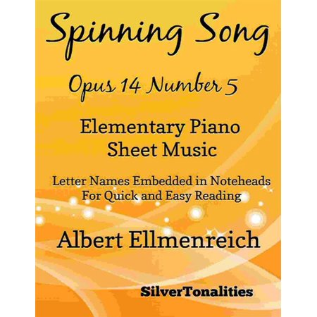 Spinning Song Elementary Piano Sheet Music - eBook (Halloween Music For Spinning Class)