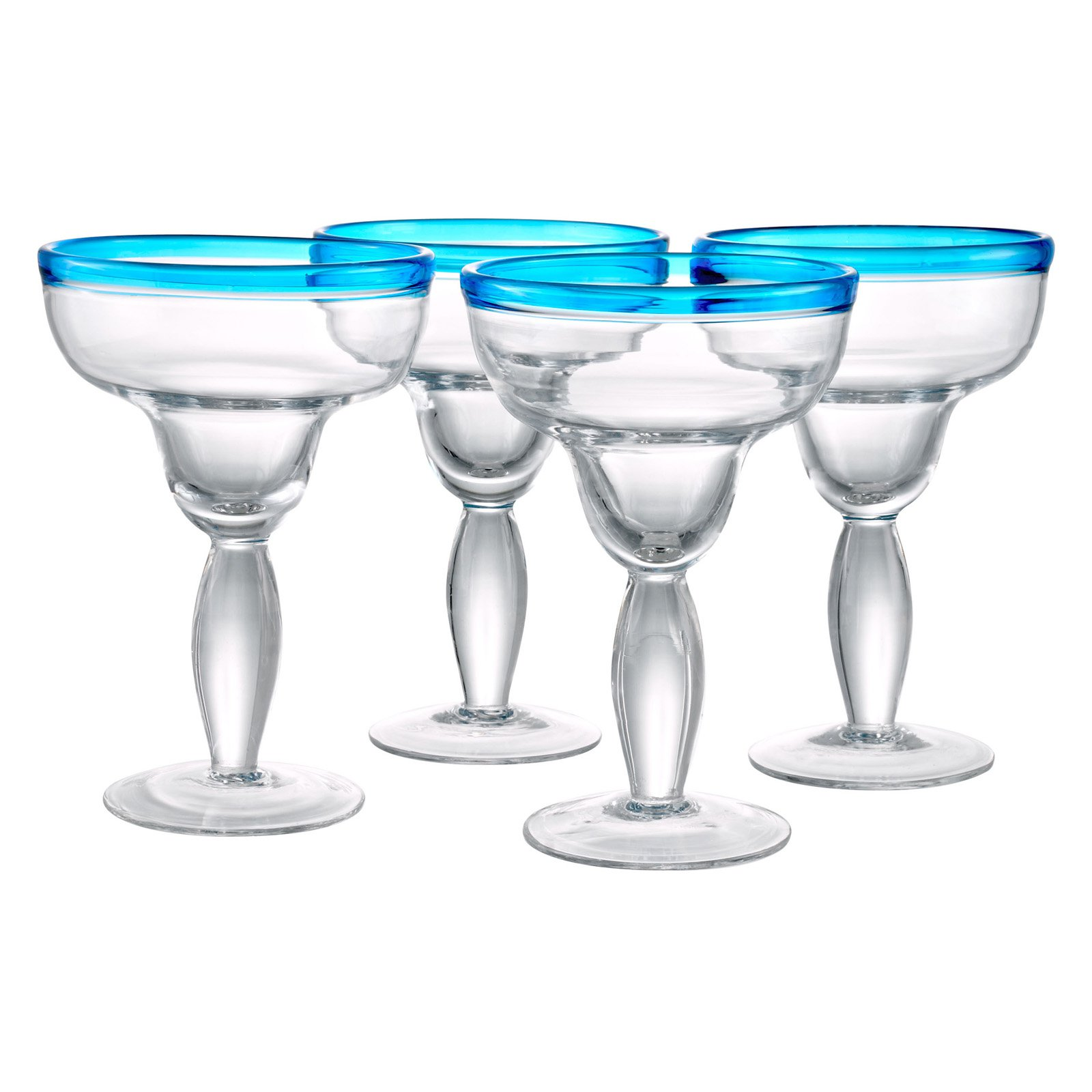 Artland Inc. Festival Peacock Margarita Glasses - Set of 4