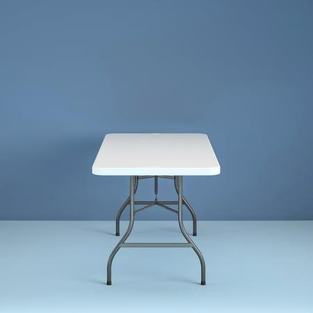 Cosco 6 Foot Centerfold Folding Table White Best Buy