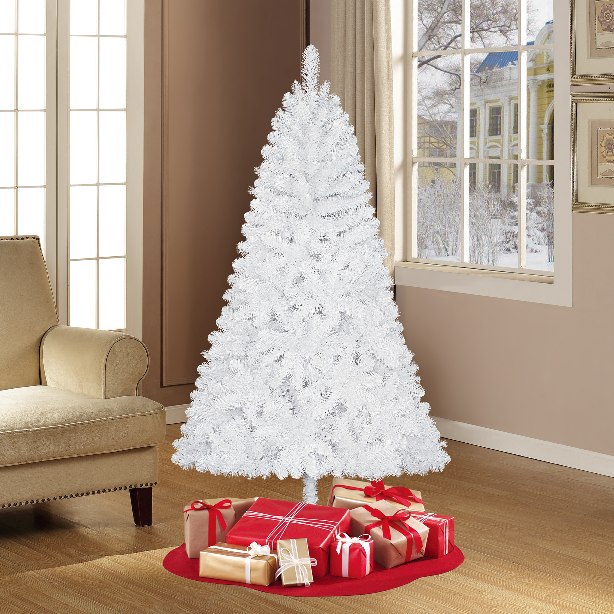 White Christmas tree on clearance - Unlit 6.5' Jackson Spruce White Artificial Christmas Tree