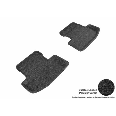 3D MAXpider 2015-2017 Ford Mustang Second Row All Weather Floor Liners in Black Carpet