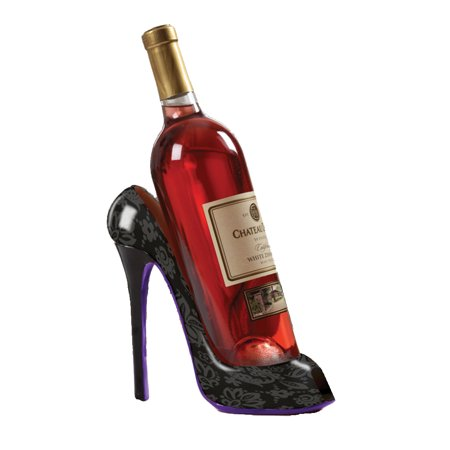 High Heel Shoe Wine Bottle Holder For Stylish Wine Gift Baskets – Black 2 Bottle Wine Holder