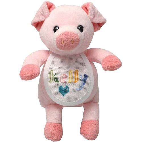 DMC Charles Craft Ready-To-Stitch Stuffed Pig
