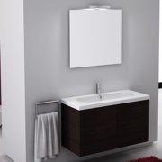 Iotti by Nameeks Trendy 39'' Wall-Mounted Single Bathroom Vanity Set with Mirror