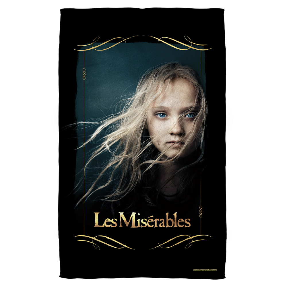 Les Miserables Girl Bath Towel White 27X52