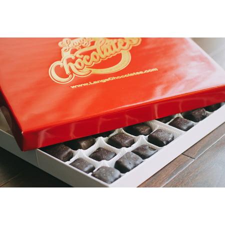Boxed Truffle - Lang's Chocolates Dark Chocolate Truffles 12 Piece Box