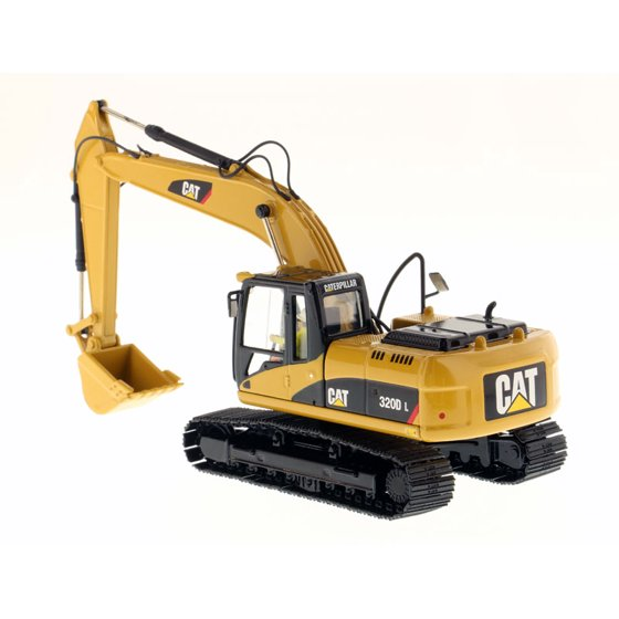 CAT Caterpillar 320D L Hydraulic Excavator with Operator 1/50 Diecast Model  by Diecast Masters