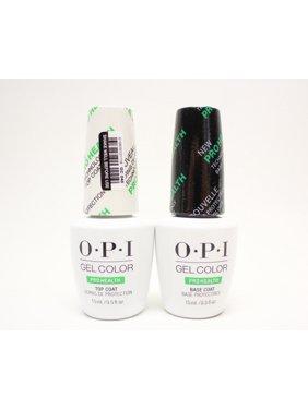 OPI GelColor Gel Nail Polish PROHEALTH Base Coat + Top Coat .5oz/15mL, 2 Bottles