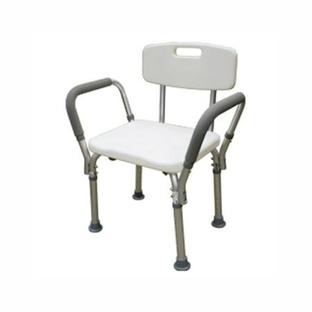 BTH-SCBH Adjustable Shower Chair White - Walmart.com