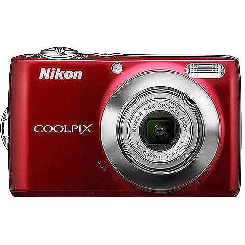 "Nikon COOLPIX L24 14MP Digital Camera w/ 3.6x Optical Zoom, 3.0"" LCD Display (Assorted Colors)"