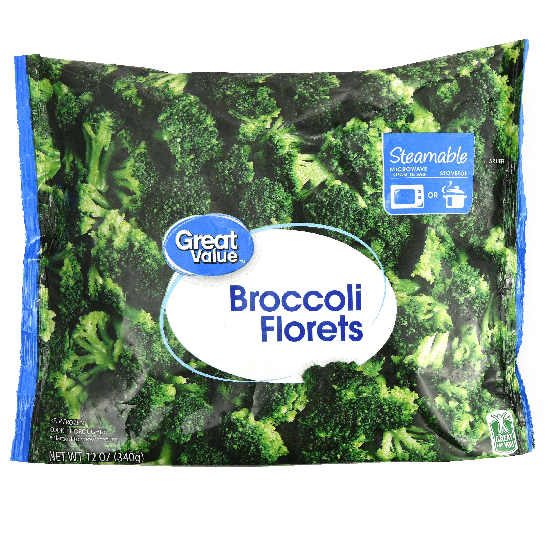 Great Value Broccoli Florets, 12 oz