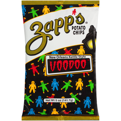 Zapp's New Orleans Kettle Style Voodoo Potato Chips, 5 Oz.