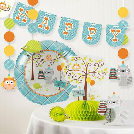 Happi Woodland Boy Birthday Party Decorations Kit