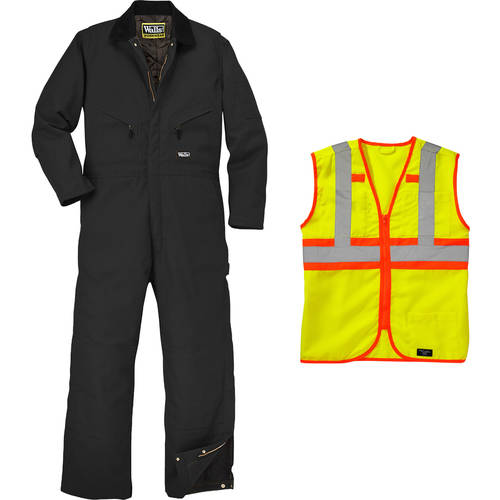 Walls Men's Workwear and Safety Vest Outfit Set
