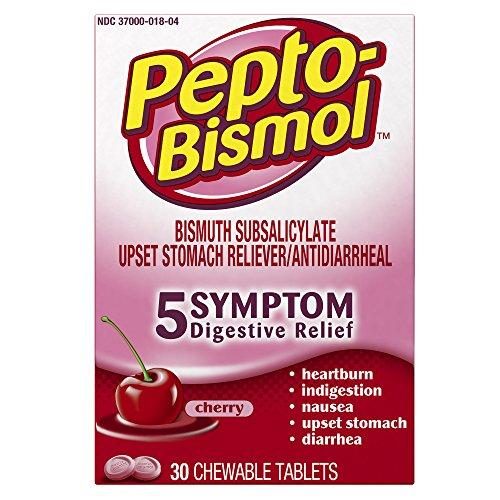2 Pack - Pepto-Bismol Chewable Tablets Cherry 30 Tablets Each
