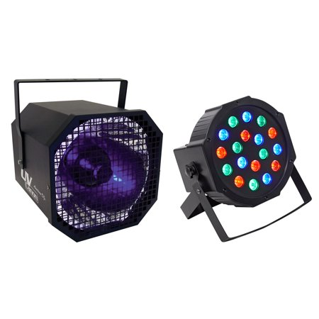 American DJ UV Canon 400 Watt High Power Blacklight Light Fixture+Free Rockpar American Dj Intelligent Light