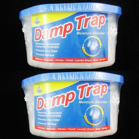 - 2 Damp Trap Excess Moisture Absorber Closet Fresh Air Dehumidfier Mildew Mold