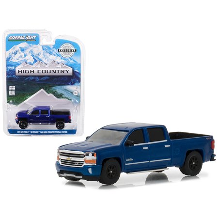 2018 Chevrolet Silverado 1500 High Country Special Edition Deep Ocean Blue 1/64 Diecast Model Car by Greenlight