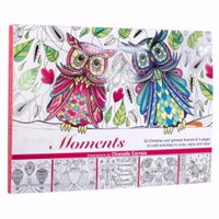 Christian Art Gifts 095393 Inspiring Moments-Owls Adult Coloring Book with Punch Out Crafts