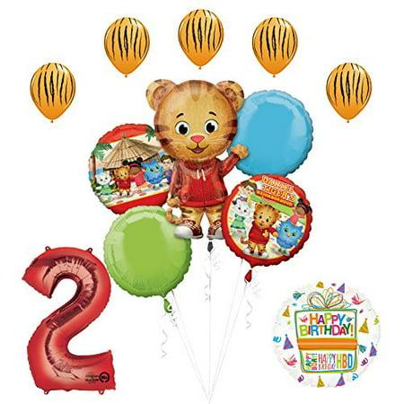 The Ultimate Daniel Tiger Neighborhood 2nd Birthday Party Supplies - Tiger Birthday Party Supplies