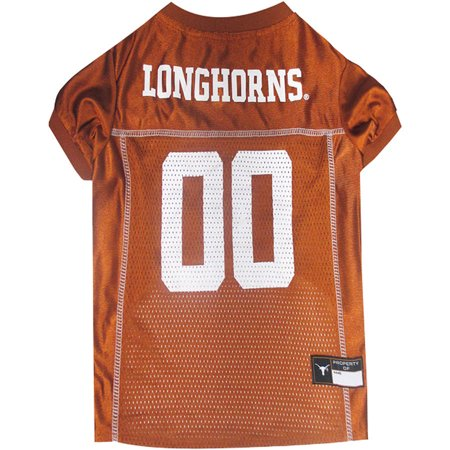 Pets First College Texas Longhorns Collegiate Dog Jersey  Available In Various Sizes