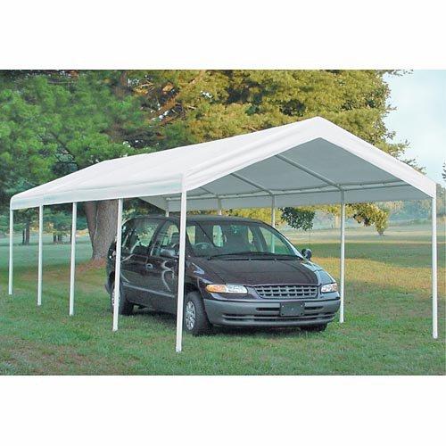 ShelterLogic 25770 12×26 Canopy  2 inch  10-Leg Frame  White Cover