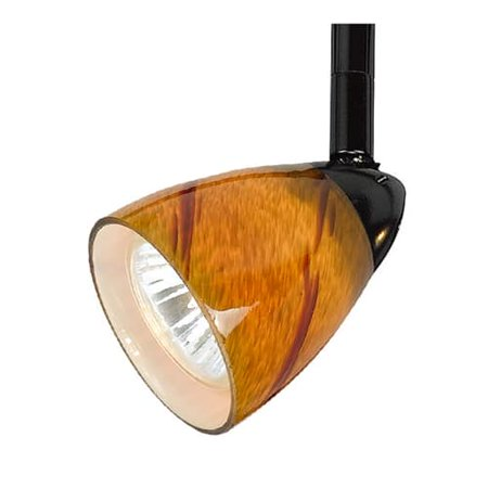 Cal Lighting Ht 954 Ams 1 Light Adjule System Track Head With Amber Spot Shade