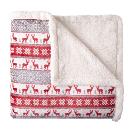 Better Homes & Gardens Full/Queen Sherpa Blanket, Multiple Colors