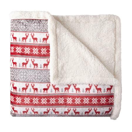 Better Homes & Gardens Full/Queen Sherpa Blanket, Multiple Colors