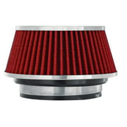 Spectre Performance 8162 Universal Clamp-On Air Filter: Round Tapered; 3 in/3.5 in/4 in (102 mm/89 mm/76 mm) Flange ID; 2.625 in (67 mm) Height; 6 in (152 mm) Base; 4.75 in (121 mm) Top