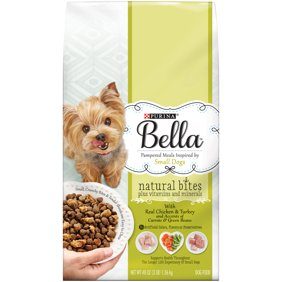 9d7f2f825 Purina Bella Natural Bites Plus Vitamins and Minerals With Real Chicken    Turkey and Accents of Carrots   Green Beans Adult Dry Dog Food - 3 lb.