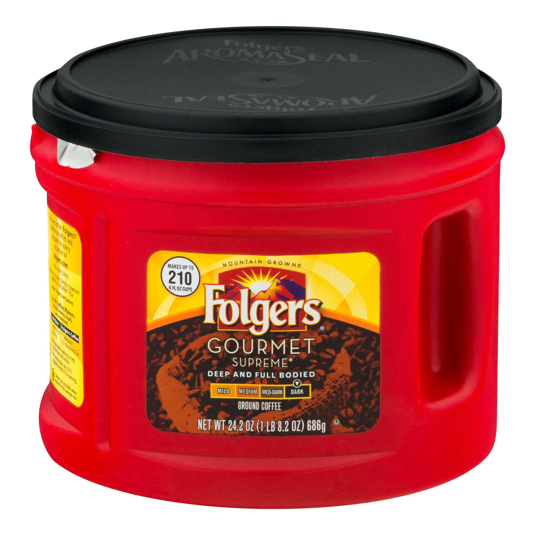 Folgers Gourmet Supreme Ground Coffee Dark, 24.2 OZ