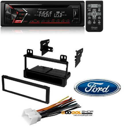 Single 1 DIN CD MP3 Player For Android MIXTRAX USB AUX W/ Mounting Kit-FMK550 for 1995-2011 Ford/Lincoln/Mazda/Mercury American International Fmk550 Ford Radio