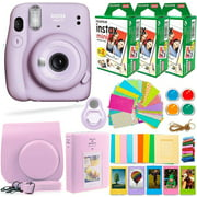 Fujifilm Instax Mini 11 Camera with FujiFilm Instax Film (60 Sheets) + Accessories Bundle Includes Case, Filters, Album, Lens, and More